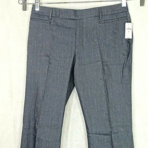 Gap Modern Boot Cut Pants Linen Blend Women Size 4